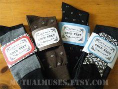 Cold Feet Sock Wrap - Groom gift  DIY?