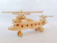 Wooden Helicopter Toy by FriendsOfForest on Etsy