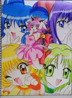 YAY after minutes turning into hours and hours whiched turned into a 3 day drawing i have finally finished my coloured sketch of the mew mew girls toget. Tokyo Mew Mew FINISHED Devianation :D Inuyasha Anime, Tokyo Mew Mew, Magical Girl, Video, Sailor Moon, Just In Case, Cyber, Anime Art, Childhood
