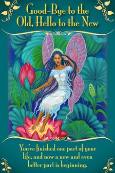 Messages From The Fairies Oracle Cards GOOD BYE TO THE OLD, HELLO TO THE NEW | Doreen Virtue