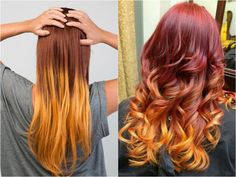 orange ombre hair style