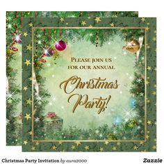 Christmas Party Invitation (sold 50 to NC, thx!)