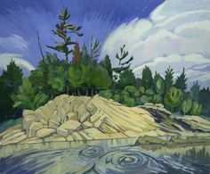 "Artist: Taras Boychuk; Oil 2004 Painting ""ottawa River"""