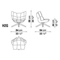 Husk H2G Swivel Armchair With Snug Sides By Bu0026B Italia   Patricia Urquiola    Bu0026B Italia