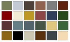 Exterior paint ideas american colonial home decorating palette paint color chips Primitive Homes, Primitive Colors, Primitive Kitchen, Primitive Country, Primitive Decor, Colonial Exterior, Exterior Paint, Exterior Colors, Cool Diy