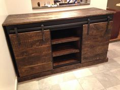 Sliding Barn Door Console | Do It Yourself Home Projects from Ana White