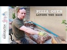 Outdoor Kitchen and Pizza Oven 1.0 | Concrete Base and Design - YouTube