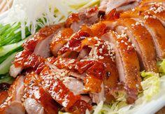Slow-Cooked Teriyaki Chicken Breasts Recipe on Yummly Chinese Duck Recipe, Chinese Roast Duck, Chinese Food, Crock Pot Slow Cooker, Slow Cooker Chicken, Slow Cooker Recipes, Cooking Recipes, Cooked Chicken, Crispy Chicken