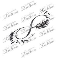 Image result for infinity and bird tattoo