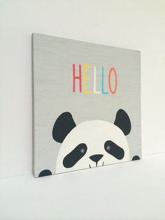 Panda Nursery Art Gender Neutral Nursery by SweetBananasArt