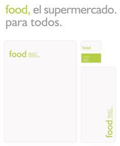 FOOD supermarket identity system by Nat M. Waterman, via Behance