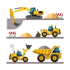 Construction equipment and machinery. on Behance