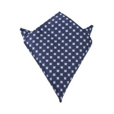Navy Blue with Light Blue Pattern - Pocket Square by OTAA | Mens Suit Hanky Handkerchief | www.otaa.com.au