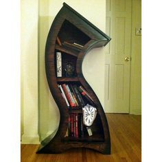 Crazy bookshelf...wouldn't it be awesome if we could build this one..