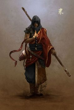 Fantasy character concept desert sand monk armed with bo staff High Fantasy, Fantasy Rpg, Medieval Fantasy, Fantasy World, Fantasy Character Design, Character Concept, Character Art, Concept Art, Fantasy Warrior