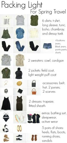 ireland packing list spring what to wear . ireland in spring packing list . packing list for ireland in spring Packing For Europe, Vacation Packing, Packing Tips For Travel, Travel Essentials, Packing Ideas, Travel Ideas, Travel Packing Light, Packing Light Summer, Suitcase Packing Tips