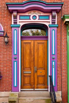 Door in Pittsburgh, Pennsylvania, USA photo by Robert Strovers