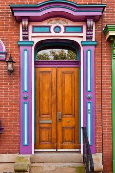 Door in Pittsburgh, Pennsylvania,USA photo by   Robert Strovers