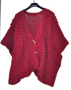 Ravelry: Project Gallery for Aran Toggle Wrap pattern by Nazanin S. Fard
