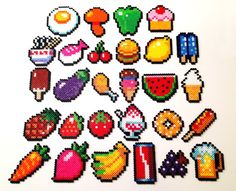 Cool perler beads as food.