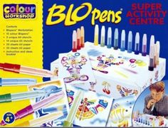 Blopens Blo Pens Super Activity Center 15 Pens + Schablonen: Amazon.de: Spielzeug