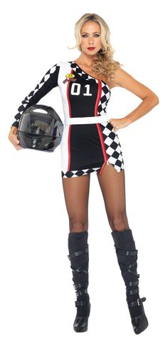 Women's Costumes Costumes & Accessories Race Car Girl Rompers High Octane Honey Costume Rose/white Long Sleeve Cheerleading Uniforms Cheerleader Victory Lap Costume 100% Original