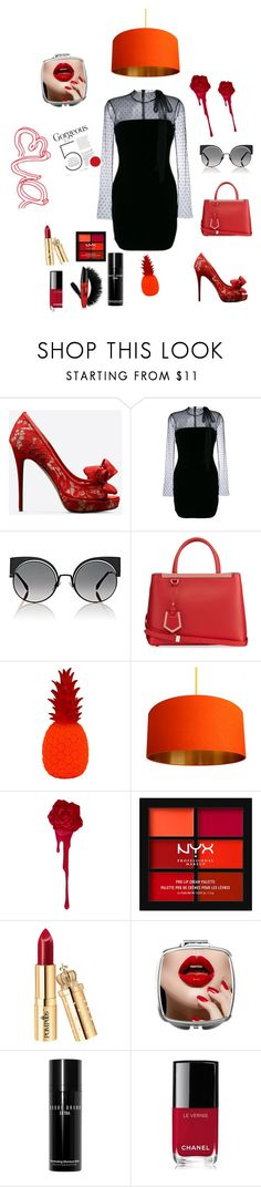 """""""RED CARPET❤"""" by barbieeva ❤ liked on Polyvore featuring beauty, Valentino, RED Valentino, Fendi, NYX, Bobbi Brown Cosmetics and Chanel"""