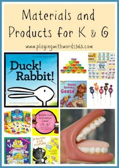 How To Elicit (Teach) the K & G Sounds {Part Two: Materials and Products for K & G} - Playing With Words 365. Pinned by SOS Inc. Resources. Follow all our boards at pinterest.com/sostherapy for therapy resources.