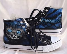 2fc271c59a5f Cheshire cat shoes hand paint Converse canvas shoes Converse shoes sneaker  Hand-Painted On Converse