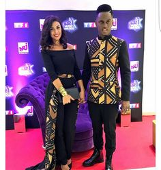 Ankara styles for couples are one of the best ways to combine fashion and Love ! I cant but admire all this eye catching styles for couples! African Inspired Fashion, African Dresses For Women, African Print Fashion, Africa Fashion, African Attire, African Wear, African Fashion Dresses, African Women, Fashion Outfits