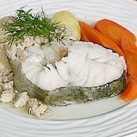 Skrei (torsk) med lever og rogn -