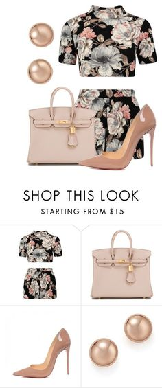 """The Weather Flip Flops"" by perichaze ❤ liked on Polyvore featuring Hermès, Christian Louboutin and Bloomingdale's"