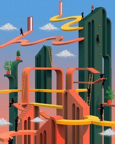Illustrations by Tishk Barzanji | #illustration #digital