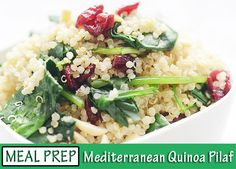 This pilaf gets flavor from dried cranberries, garlic, and feta cheese, and vitamins A and C from spinach. Sauteed Spinach, Spinach And Cheese, Eating Raw, Healthy Eating, Cooking Recipes, Healthy Recipes, Paleo Food, Simple Recipes, Healthy Treats