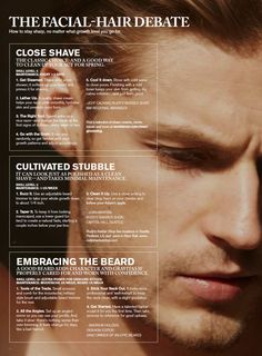 MEN'S ESSENTIALS:  How to stay sharp, no matter what growth you go for.  ===  FOLLOW US ON PINTEREST for more Style Tip, Men's Basics, Men's Essentials, Our Sales more about men....~ VujuWear