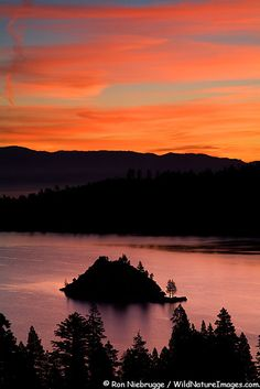Sunrise on Emerald Bay, Lake Tahoe, California
