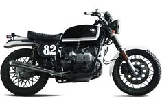 Spain-based customizers going by the name of Fuel motorcycles have put up together a modifying kit for the BMW owners looking for adding some more personality to their bikes. The pictured bike is named Scram and has been built starting from an Bmw Scrambler, Bmw Boxer, Bmw Vintage, Bmw Cafe Racer, Cafe Racers, Motorbike Design, R80, Bmw Motorcycles, Moto Guzzi