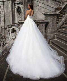 Beautiful #Wedding Dress 2017! Lace, Organza, Tulle, and Satin A-Line Gown with an Organza Edge Strapless Sweetheart Neckline, Lightly Beaded Lace Fitted and Boned Bodice to Natural Waistline, Lightly Beaded Lace Applique onto Gathered Tulle and Organza Layered A-Line Skirt with a Horsehair Trim Hemline, Chapel Train, Lightly Beaded Lace Mid Back with Corset Closure. #corsetweddingdress #bridalgowns #aline #strapless #sweetheartneckline #weddingdresses #beautiful #bride #dreamweddingdress…
