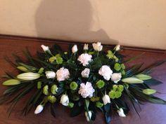 Funeral double ended spray Funeral Flower Arrangements, Funeral Flowers, Floral, Plants, Design, Art, Funeral Arrangements, Art Background, Florals