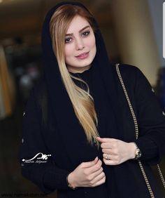 Muslim Fashion, Hijab Fashion, Beautiful Arab Women, Iranian Beauty, Mode Abaya, Profile Picture For Girls, Pearl Necklace, Actresses, Actors