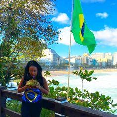"""Brasil, meu brasil brasileiro."" #travel #traveldiaries #travelblog #traveling #travelgram #travelphoto #travelchannel #travels #travelphotography #brasil #brazil #wanderlust #explore #adventure #rio2016 #riodejaneiro #rio2016🇧🇷 #ipanema #ipamemabeach #oi #blacktravel #blacktravelista #instatravel #instagood #igtravel #travelersofig #coconutmilk #coconut"