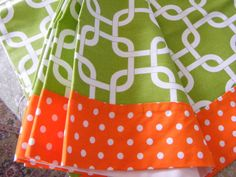 READY TO SHIP baby bedding orange and lime by hadanbabyblanket
