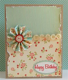 Mama Mo Stamps...Made these for card club...Pretty easy...Love the shabby sheek look of these cards