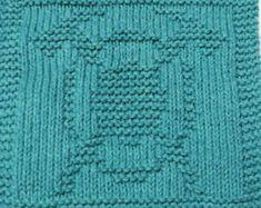 Large Knitting Cloth Pattern - FIREFIGHTER EMBLEM - PDF