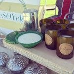 Pics from today's #market. #resoycle #candle #candles #winecandles