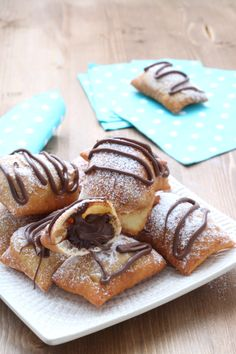 Nutella, Cannoli, Waffles, French Toast, Food And Drink, Baking, Breakfast, Ethnic Recipes, Desserts