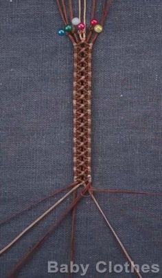 Macrame Jewelry Tutorial, Macrame Bracelet Patterns, Diy Bracelets Patterns, Diy Bracelets Easy, Handmade Bracelets, Macrame Bracelet Diy, Diy Crafts Jewelry, Bracelet Crafts, Diy Friendship Bracelets Patterns