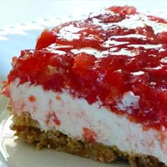 Strawberry Pretzel Dessert recipe. It sounds weird but it is absolutely delicious.