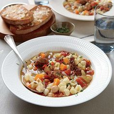 Chickpea and Sausage Minestrone | CookingLight.com