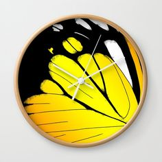 Butterfly Wing - Orange Gull Wall Clock by laec Gull, Butterfly Wings, Clocks, Orange, Creative, Artwork, Collection, Work Of Art